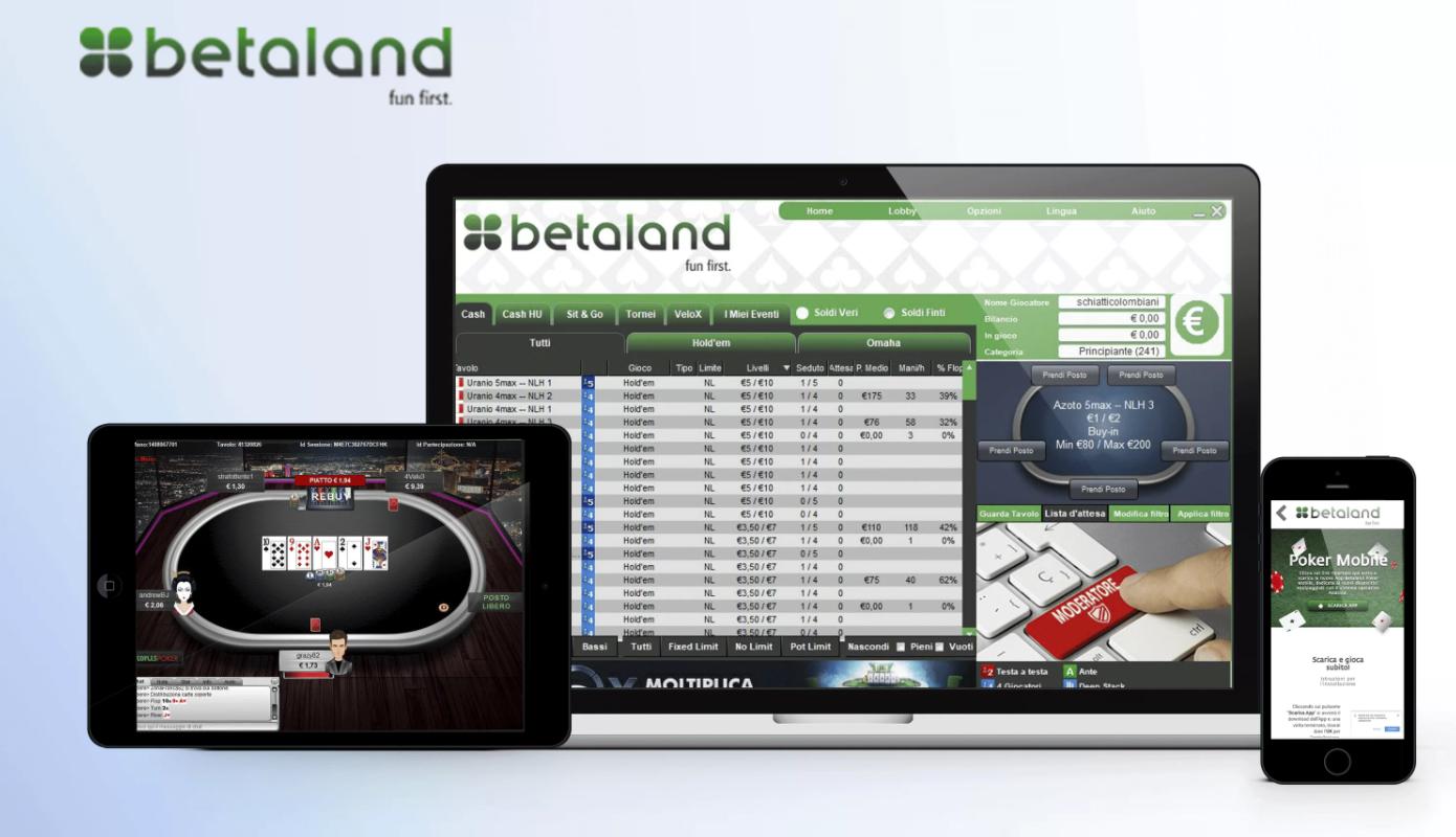 applicazione Betaland: offerte commessi e ricompense